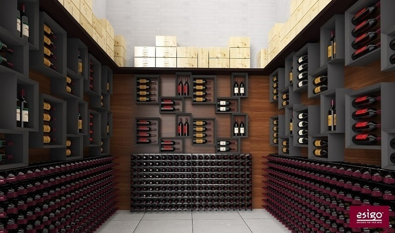 Gallery portabottiglie esigo 5 for Arredamento cantina vino