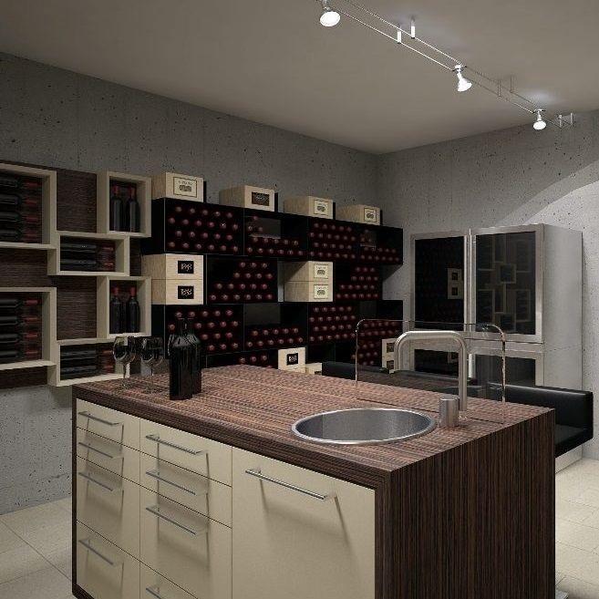 Esigo portabottiglie di design arredamento enoteca e for Arredamento cantina vino