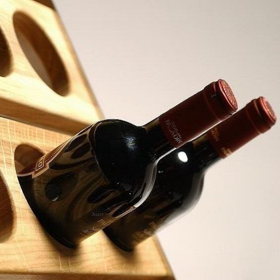 Esigo portabottiglie di design arredamento enoteca e - Botelleros de madera rusticos ...