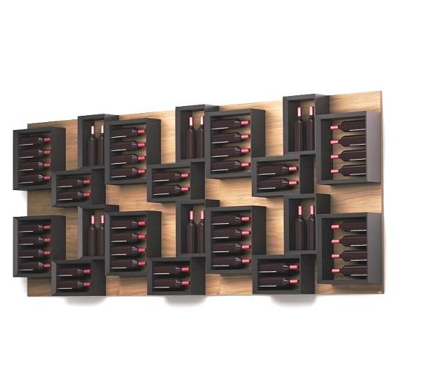 Porta bottiglie vino in legno esigo for Porta bottiglie vino