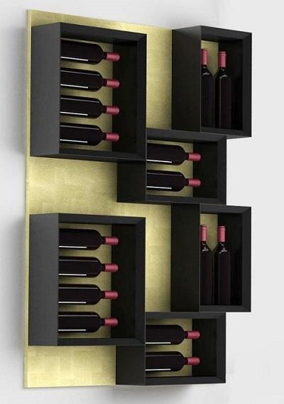 Portabottiglie da muro esigo 5 esigo by sanpatrignano - Porta vino da parete ...