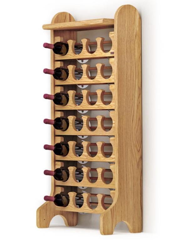 Porta vino da muro stilcasa porta bottiglie da vino vesta - Porta vino ikea ...